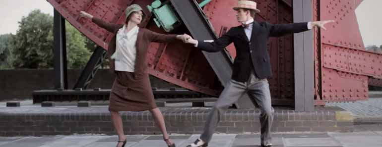 Photo of couple dancing from video 100 Years of Style East London.