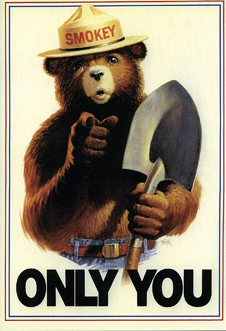 "The ""Only You"" Smokey the Bear Poster"