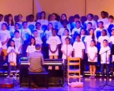 Photo of East Providence Kids Rock Chorus concert.
