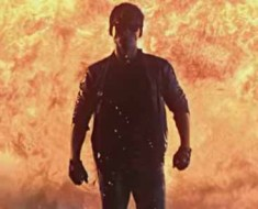 Photo: Kung fury walking away from an explosion.