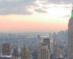 Photograph of the New York City skyline.
