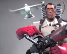 Photo of the medic from Team Fortress 2.