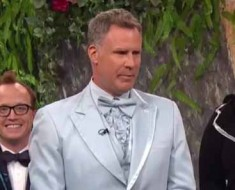 Photo of Will Ferrell presenting surprise wedding toast.